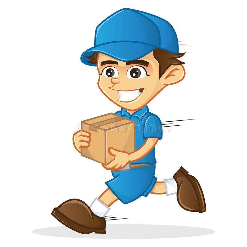 DELIVERY MAN stock vector. Illustration of friendly ... Package Delivery Clipart