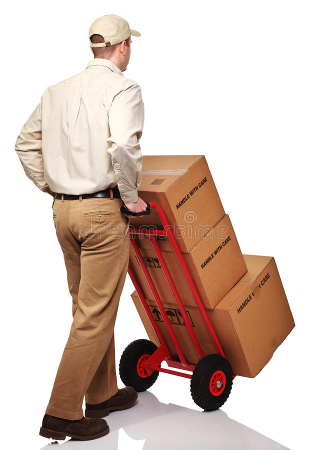 Download Delivery man on duty stock image. Image of background - 17906371