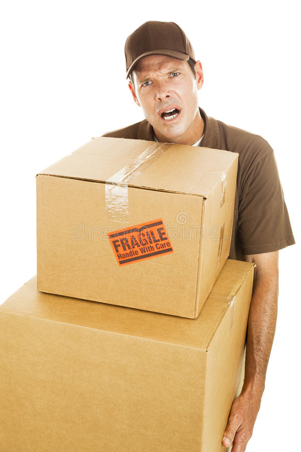 Download Delivery Man - Frustration Royalty Free Stock Photos - Image: 16170648