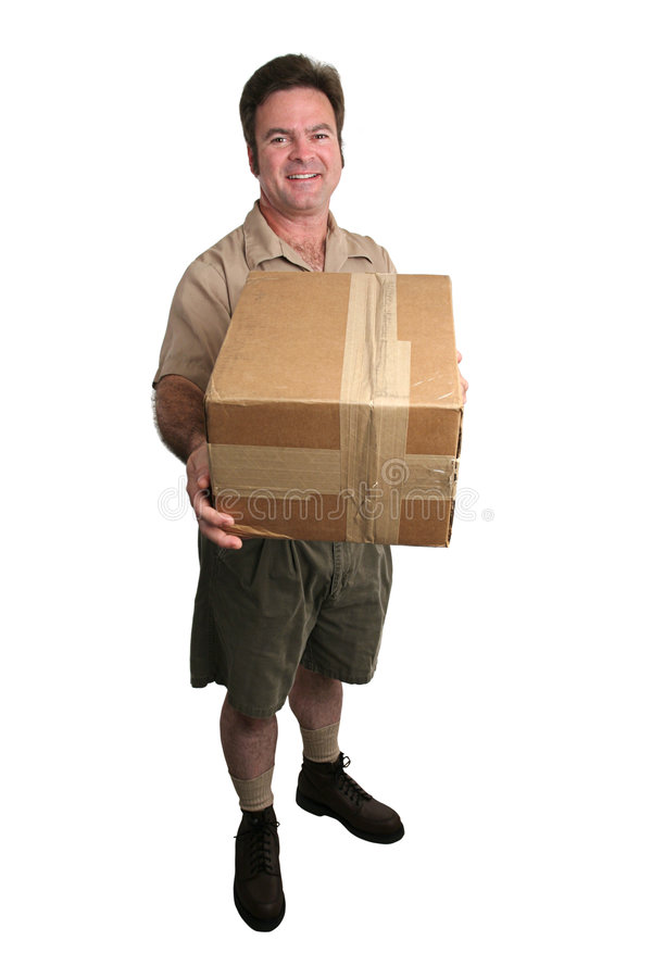 Delivery Man - Full View royalty free stock photography