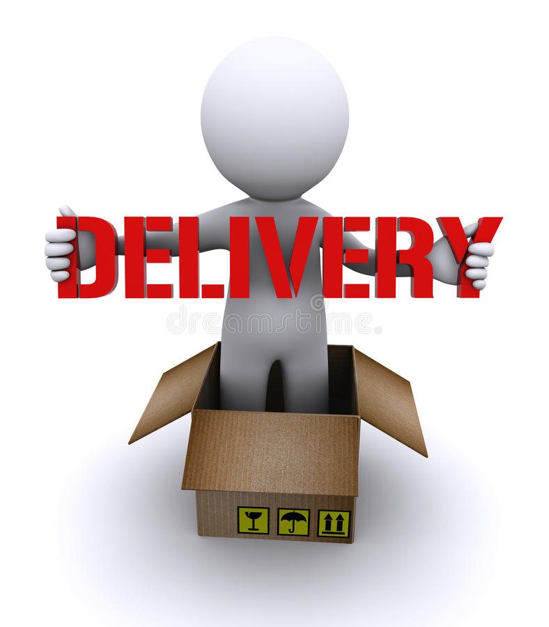 Download Delivery man holding stock illustration. Image of customer - 16748113