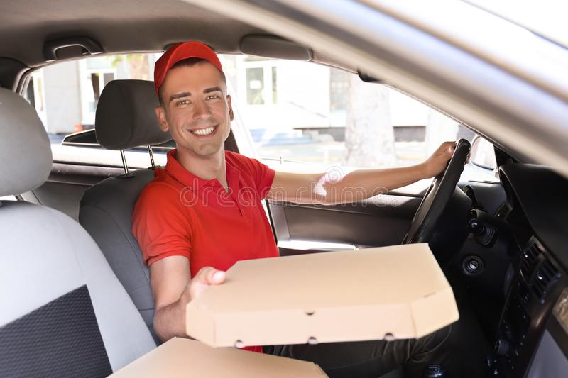 Delivery Driver Pizza Stock Photos - Download 530 Royalty Free Photos