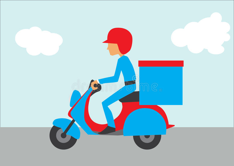 Delivery Motorcycle stock photo