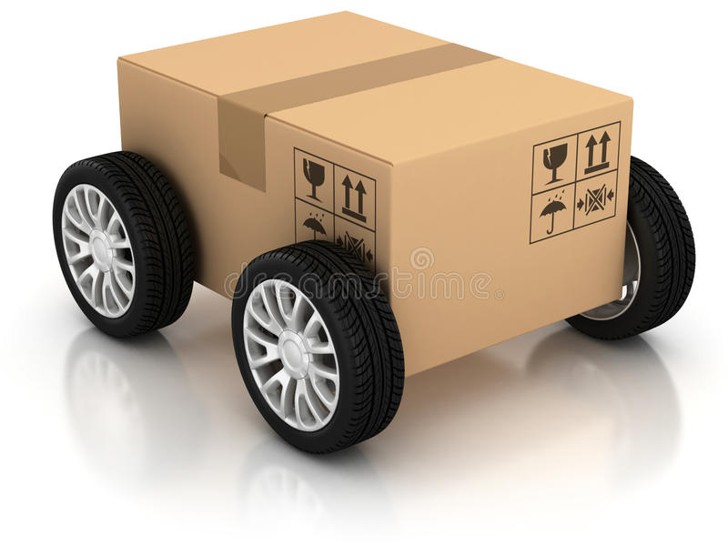 Delivery, moving, shipping, transport royalty free illustration