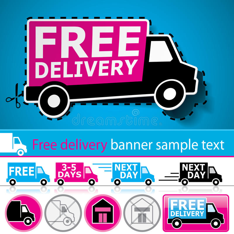 Download Delivery Promotion Set Royalty Free Stock Photos - Image: 22009668