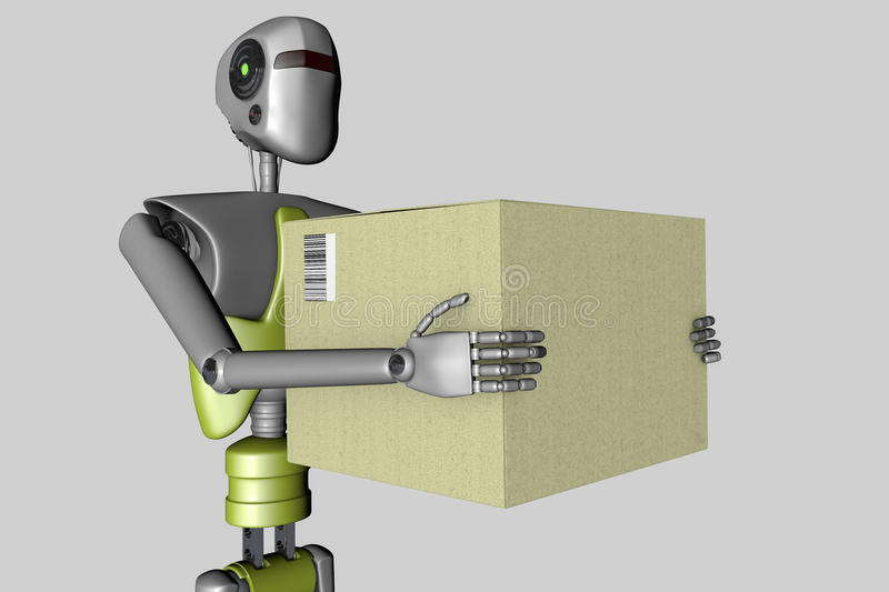 Delivery robot royalty free illustration