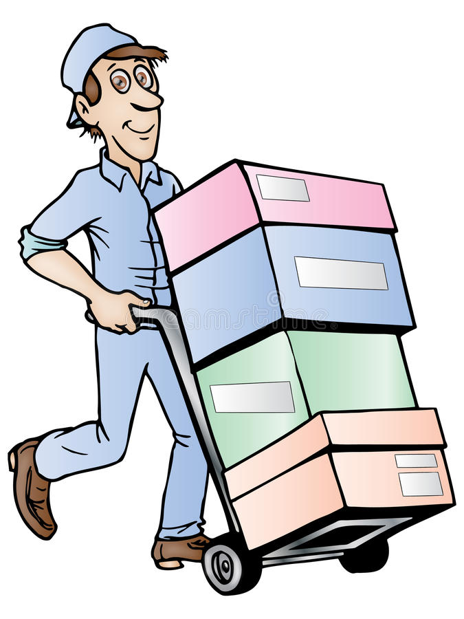 Download Delivery service stock illustration. Image of shipment - 12797235