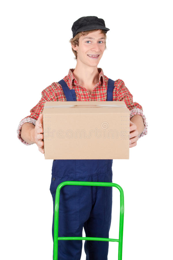Download Delivery service stock image. Image of work, male, overall - 15718733