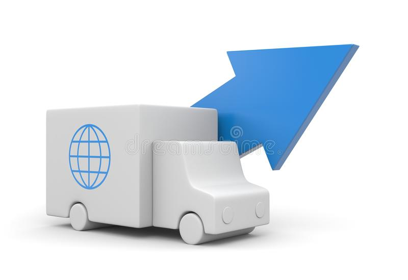 Download Delivery service stock illustration. Image of business - 19016259