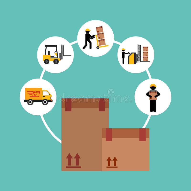 Delivery service design royalty free illustration