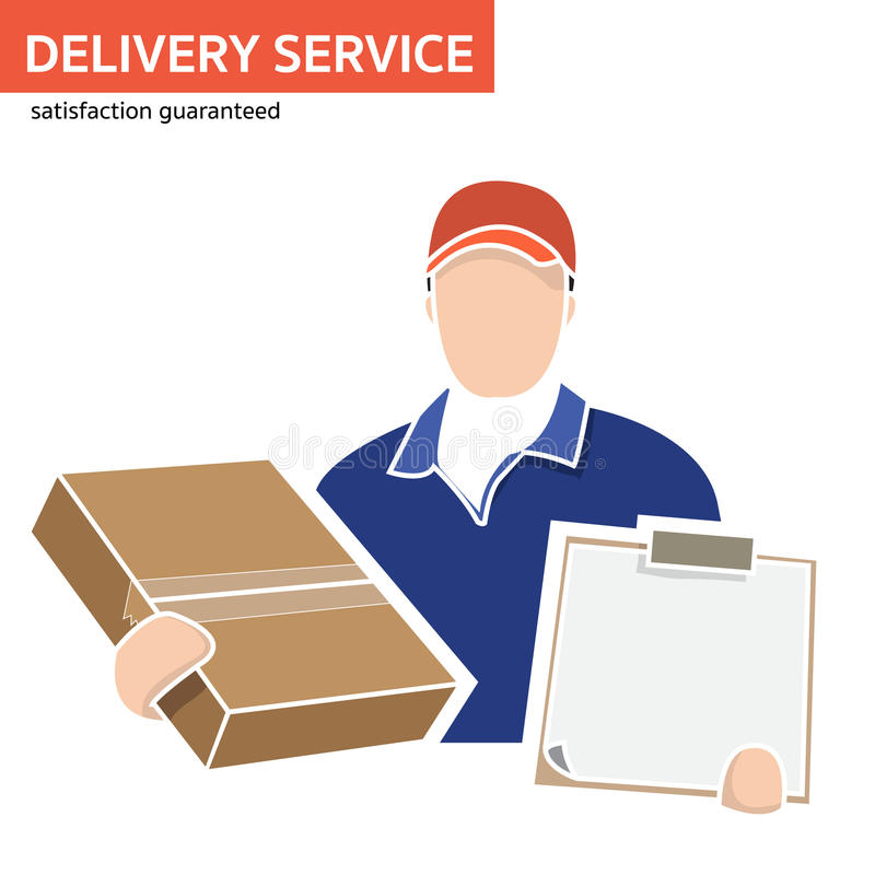 Delivery service, Door-to-door service,E-commerce royalty free illustration
