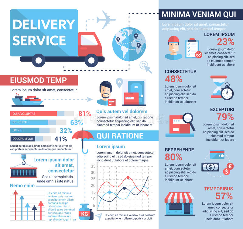 Delivery Service - Poster, Brochure Cover Template Stock Vector ...