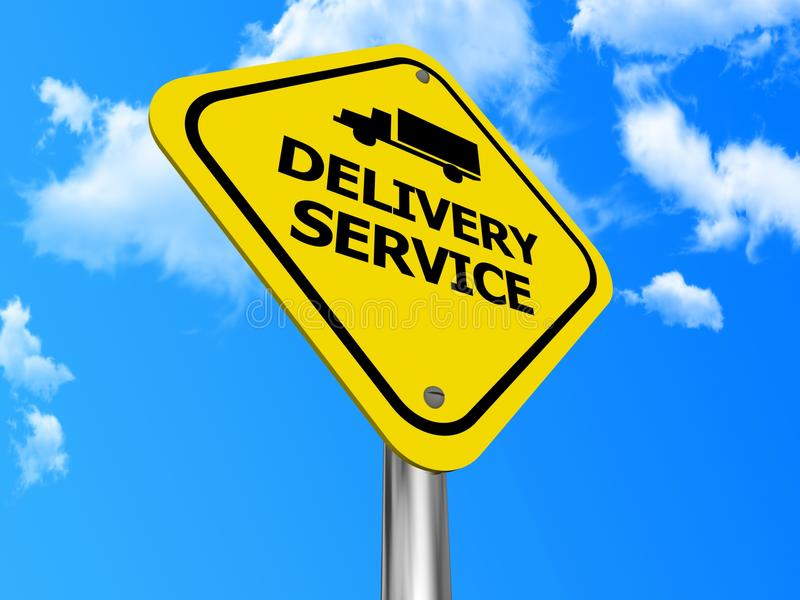Download Delivery service sign stock image. Image of illustration - 26105211