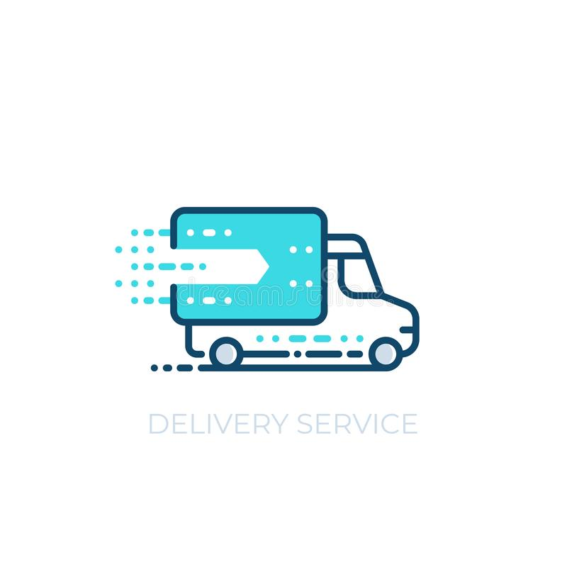 Delivery service vector icon vector illustration