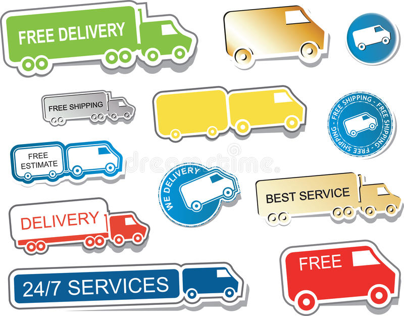 Download Delivery Sign Stickers Stock Photo - Image: 28804420