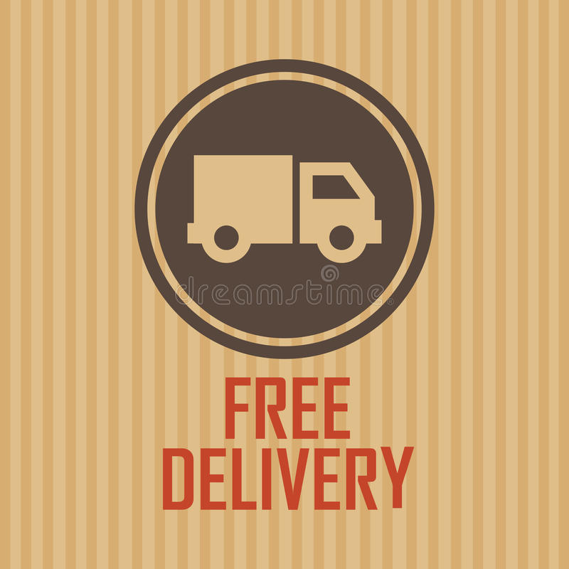 Delivery symbol stock illustration
