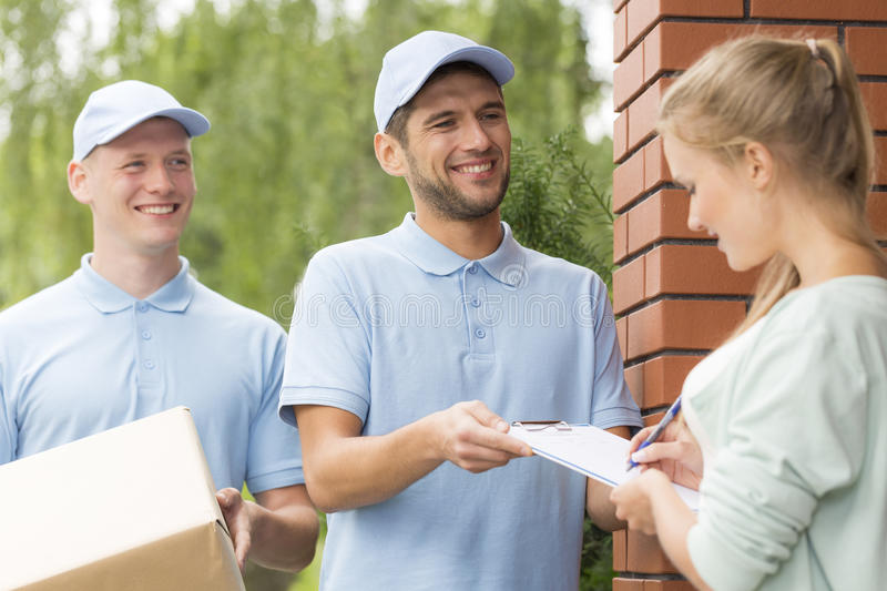 Delivery always on time royalty free stock photos