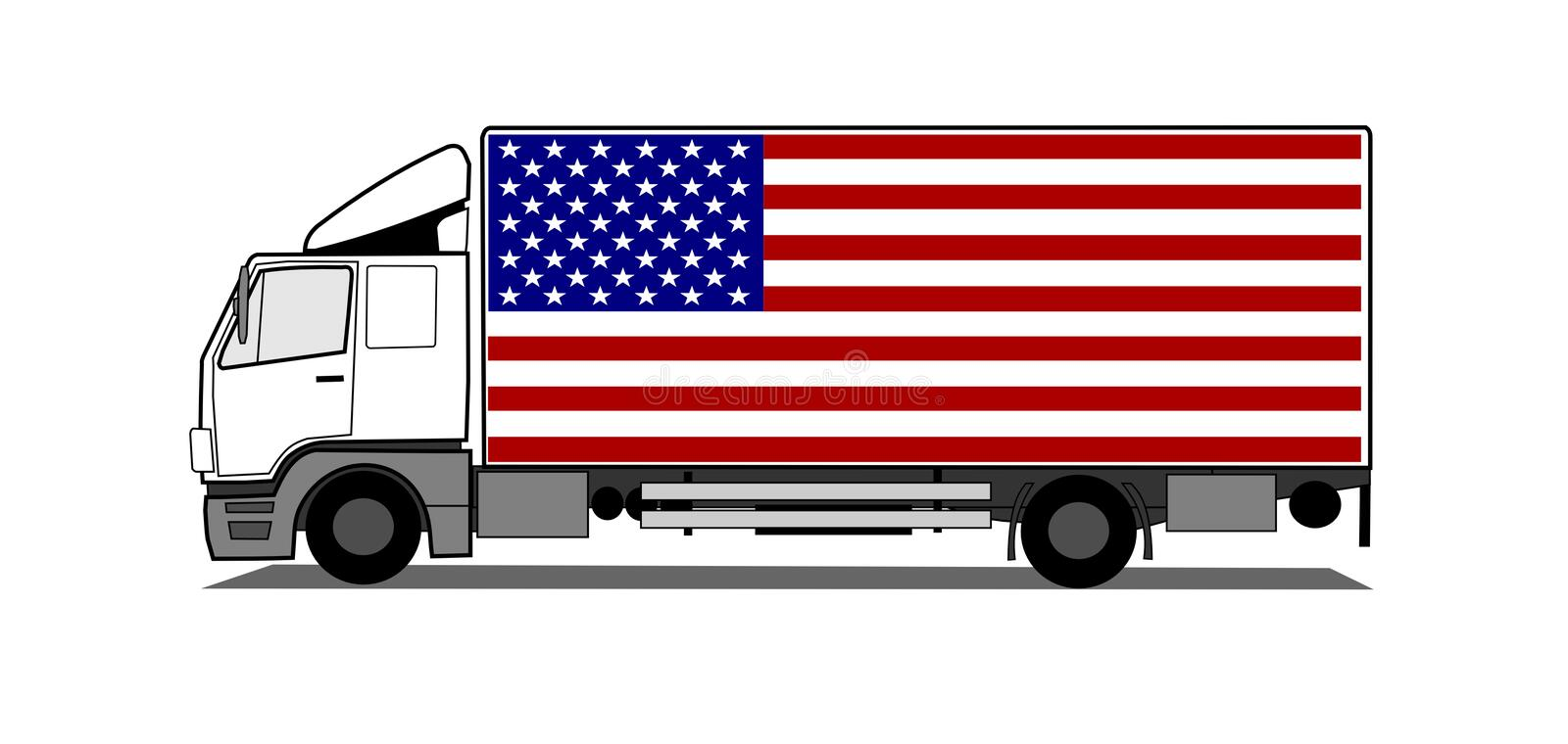 Download Delivery truck stock vector. Image of industry, semi - 15235263