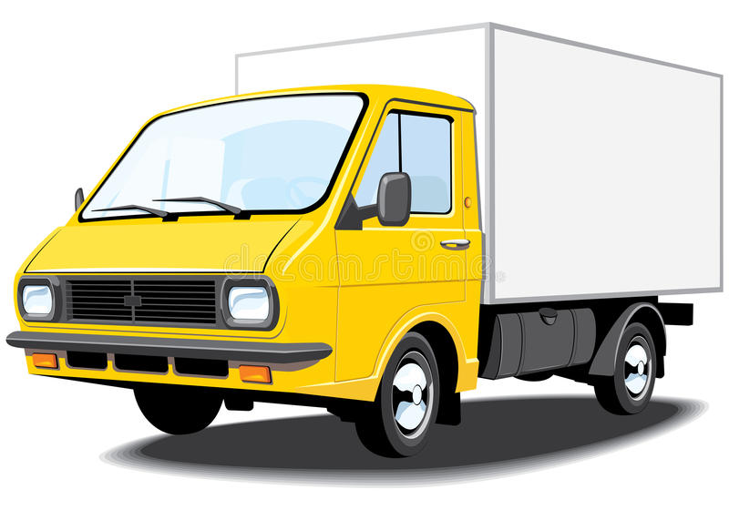 Download Delivery truck stock vector. Image of mini, shadow, small - 22197752