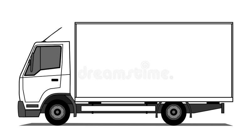 delivery truck stock vector illustration of deliver 23113222 rh dreamstime com ups delivery truck clipart red delivery truck clipart