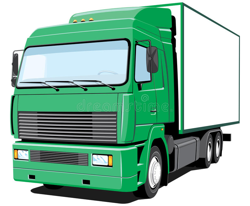Download Delivery truck stock vector. Image of single, container - 25252051