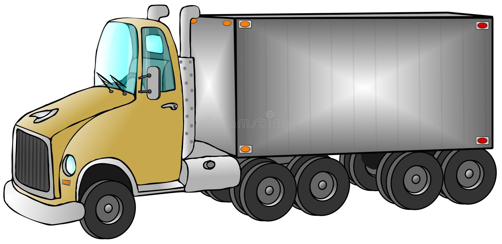Download Delivery Truck stock illustration. Image of truck, trailer - 5795188