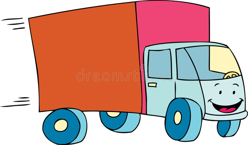 Download Delivery Truck stock vector. Image of overnight, deliver - 9488630