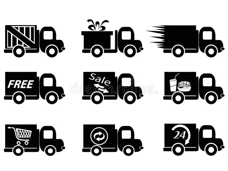 Download Delivery truck icons stock vector. Image of auto, internet - 33588580