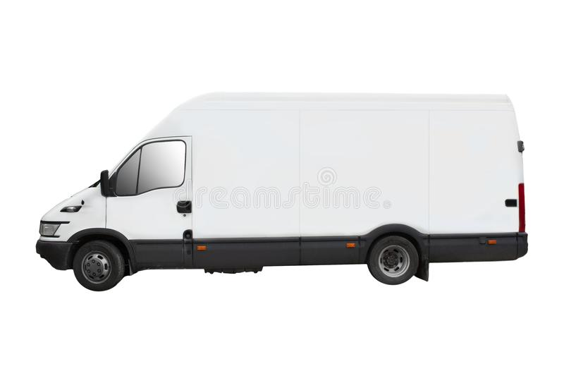 Delivery truck - isolated royalty free stock image