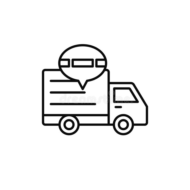 Delivery truck traffic jam icon. shipment delay illustration. simple outline vector symbol design. Eps 10 royalty free illustration