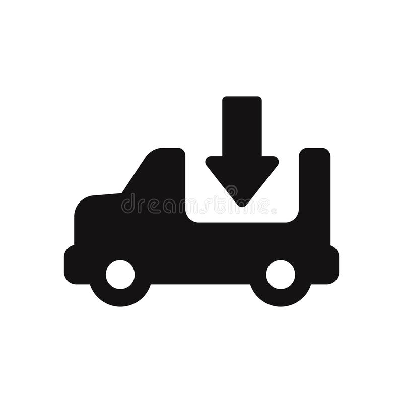Delivery truck vector icon. Sign in trendy design style, vector illustration, EPS10. stock illustration