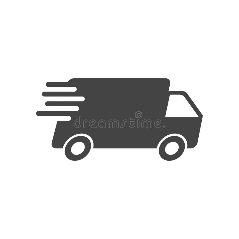 Delivery truck vector illustration. Fast delivery service shipping icon. stock illustration