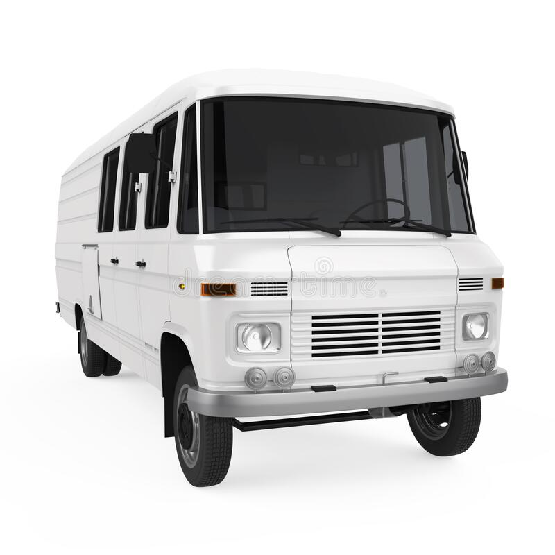 Delivery Van Isolated. On white background. 3D render royalty free illustration