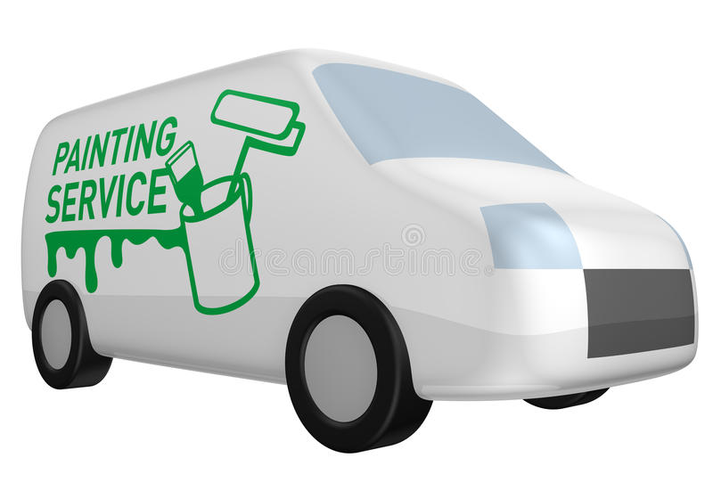 Delivery Van Painting Service Royalty Free Stock Photo