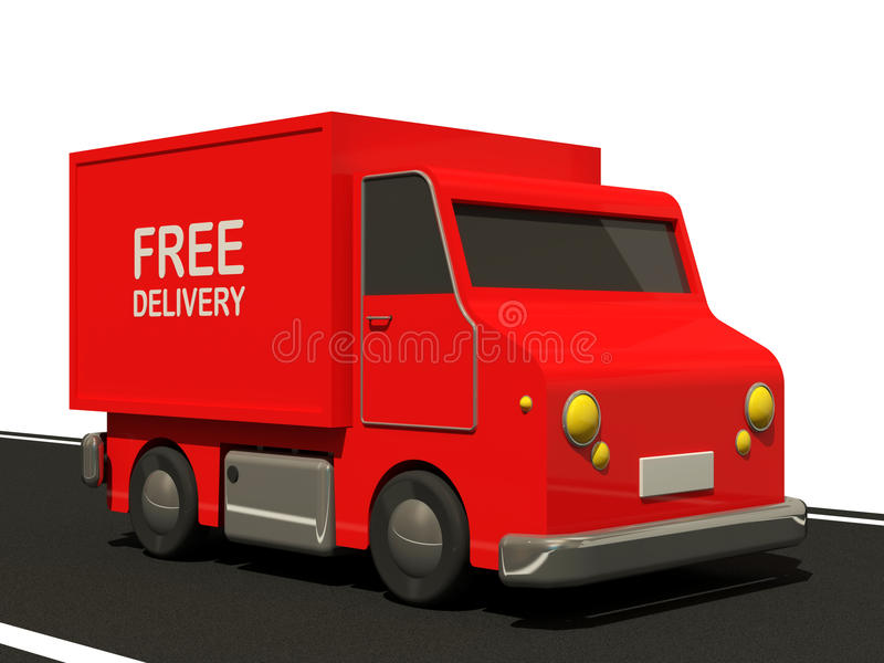 Delivery Van On Road Royalty Free Stock Photos