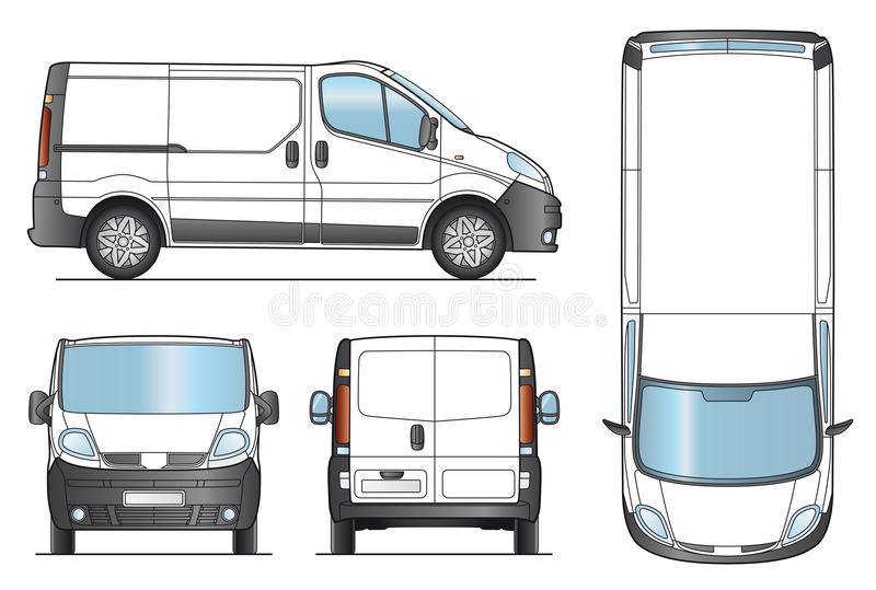 Delivery Van Template - Vector stock illustration