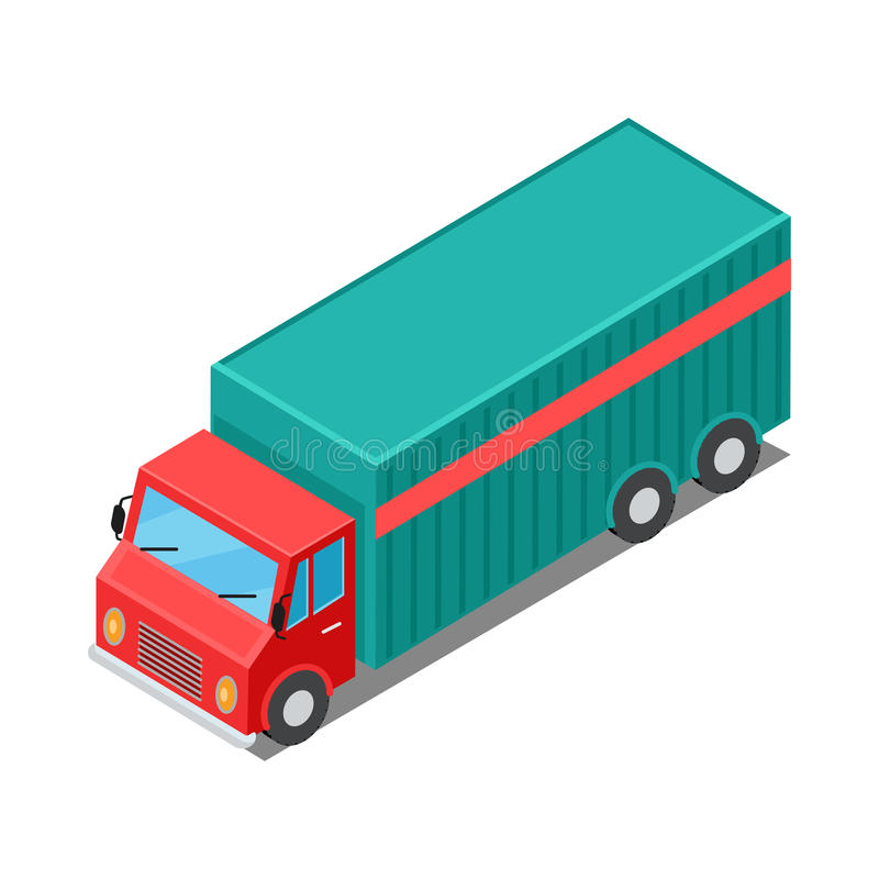 Delivery Van Truck Specialized to Deliver Cargo vector illustration