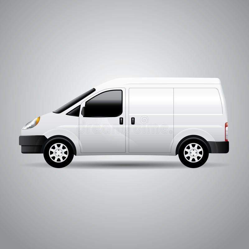 Delivery Van - Vector Illustration stock illustration