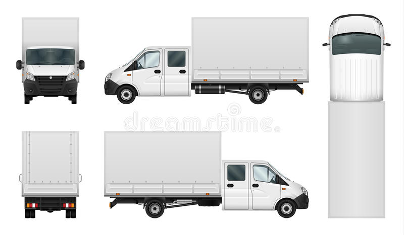 Delivery van vector template on white royalty free illustration