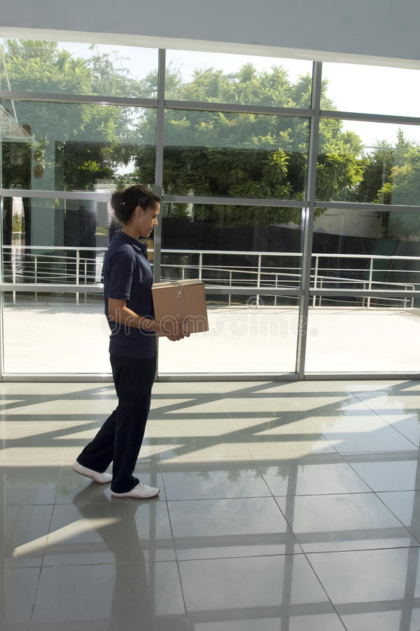 Download Delivery woman stock image. Image of adult, side, delivering - 20135641