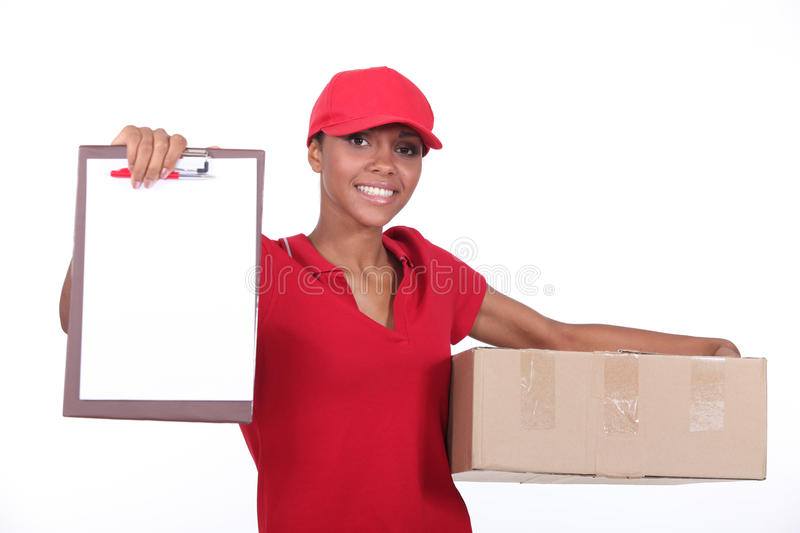 Delivery woman. stock images