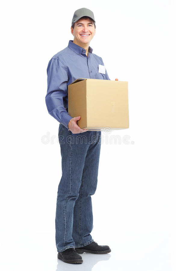 Free Delivery Worker. Royalty Free Stock Images - 17214169