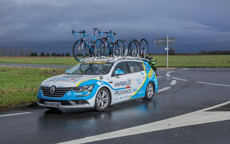 Delko Marseille Provence KTM Team Car - Paris-Nice 2017 royalty free stock images