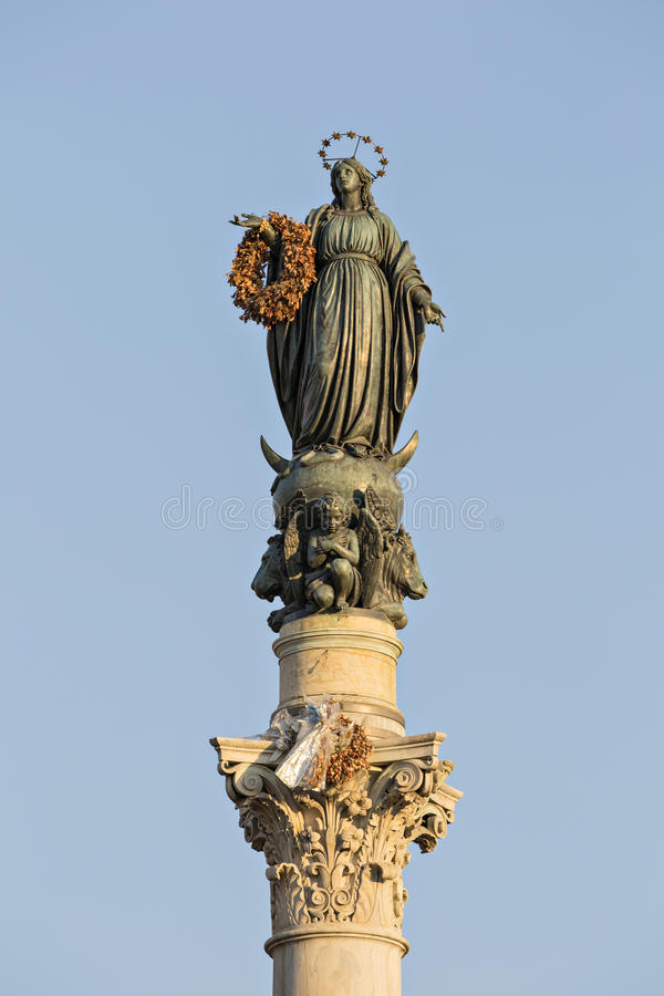 dellâImmacolata de Colonna em Roma, Italia imagem de stock