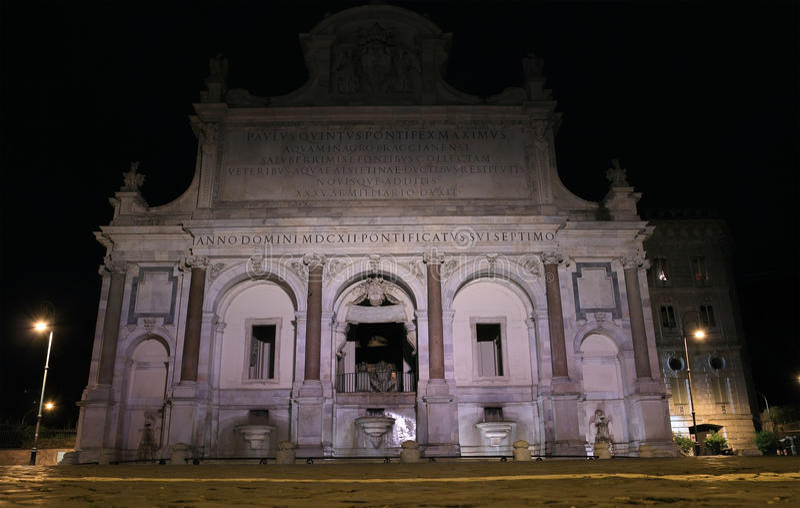 Dell Acqua Paola de Fontana en Roma fotos de archivo
