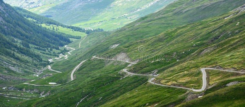 Dell'Agnello di Colle, alpi francesi fotografie stock