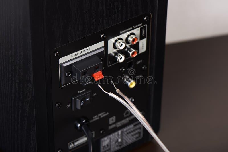 Dell'altoparlante terminale fuori immagine stock