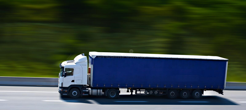 Dell'azzurro camion semi immagini stock libere da diritti