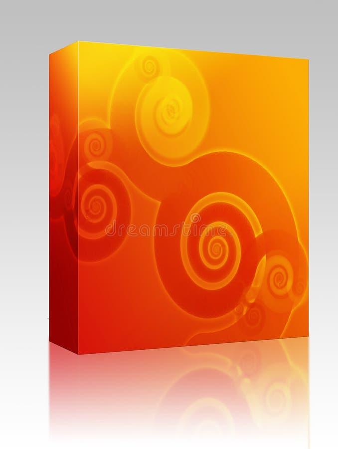 Dell'estratto pacchetto della casella swirly illustrazione di stock