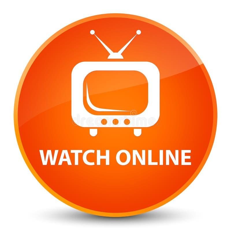 Dell'orologio bottone rotondo arancio elegante online royalty illustrazione gratis